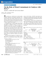 On the Role of Metal Contaminants in Catalyses with FeCl3.