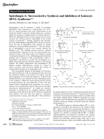 SpirofunginA  Stereoselective Synthesis and Inhibition of Isoleucyl-tRNA Synthetase.