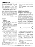 Synthesis  Structure  and Coordination Chemistry of Diisocyanomethane.