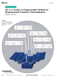 The 23 Toolbox of Organometallic Methods for Regiochemically Exhaustive Functionalization.