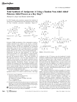 Total Synthesis of AuripyroneA Using a Tandem Non-Aldol AldolPaterson Aldol Process as a Key Step.