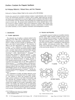 Zeolites  Catalysts for Organic Syntheses.