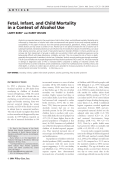 Fetal  infant  and child mortality in a context of alcohol use.