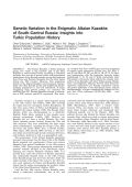 Genetic variation in the enigmatic Altaian Kazakhs of South-Central Russia  Insights into Turkic population history.