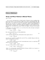 Group and Phase Velocity in Eikonal Theory.