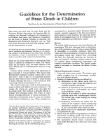 Guidelines for the determination of brain death in children.
