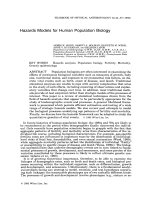 Hazards models for human population biology.