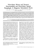 Hereditary motor and sensory neuropathies and hereditary spastic paraplegia  A magnetic stimulation study.