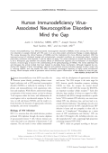 Human immunodeficiency virus-associated neurocognitive disorders  Mind the gap.