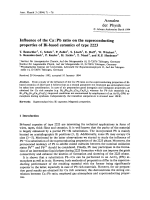Influence of the Ca Pb ratio on the superconducting properties of Bi-based ceramics of type 2223.