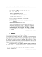Information Transport in 2-Port Cell Networks.