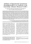 Inhibition of experimental autoimmune encephalomyelitis by an antibody to the intercellular adhesion molecule ICAM-1.