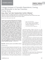 Linkage analyses of cannabis dependence  craving  and withdrawal in the San Francisco family study.