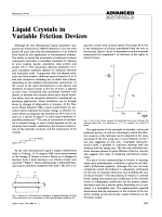 Liquid Crystals in Variable Friction Devices.
