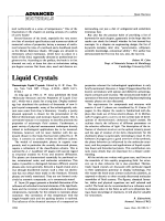 Liquid Crystals. Thermotropic Liquid Crystals. Edited by G. W. Gray. Wiley  New York 1987. 178pp.   38.00