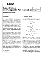Liquid CrystalsЧNew Compounds  New Applications.