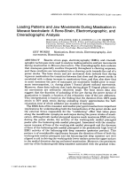 Loading patterns and jaw movements during mastication in Macaca fascicularis  A bone-strain  electromyographic  and cineradiographic analysis.