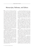 Manuscripts  Referees  and Editors.