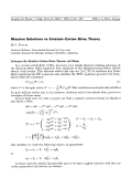 Massive Solutions to Einstein-Cartan-Dirac Theory.