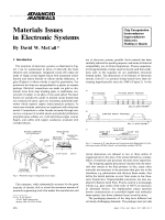 Materials Issues in Electronic Systems.