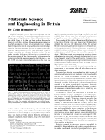 Materials Science and Engineering in Britain.