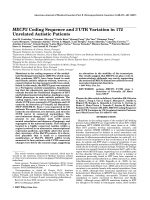 MECP2 coding sequence and 3UTR variation in 172 unrelated autistic patients.