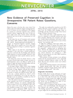 NerveCenter  New evidence of preserved cognition in unresponsive TBI patient raises questions  concerns.