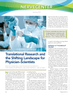 NerveCenter  Translational research and the shifting landscape for physicianЦscientists.