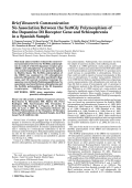 No association between the Ser9Gly polymorphism of the dopamine D3 receptor gene and schizophrenia in a Spanish sample.