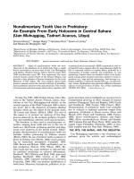 Nonalimentary tooth use in prehistory  An example from early Holocene in Central Sahara (Uan Muhuggiag  Tadrart Acacus  Libya).