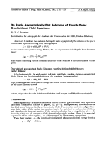 On Static Asymptotically Flat Solutions of Fourth Order Gravitational Field Equations.