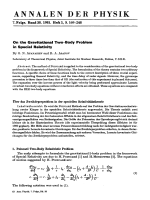 On the Gravitational Two-Body Problem in Special Relativity.