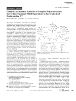Catalytic Asymmetric Synthesis of Complex Polypropionates  Lewis Base Catalyzed Aldol Equivalents in the Synthesis of ErythronolideB.