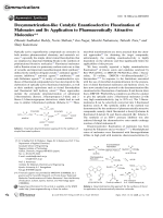 Desymmetrization-like Catalytic Enantioselective Fluorination of Malonates and Its Application to Pharmaceutically Attractive Molecules.
