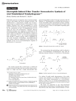 Electrophile-Induced Ether Transfer  Stereoselective Synthesis of 2 4 6-Trisubstituted Tetrahydropyrans.