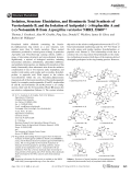 Isolation  Structure Elucidation  and Biomimetic Total Synthesis of VersicolamideB  and the Isolation of Antipodal ()-StephacidinA and (+)-NotoamideB from Aspergillus versicolor NRRL35600.