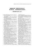 List of current members of the American Association of Physical Anthropologists.