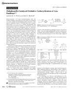 Palladium(II)-Catalyzed Oxidative Carbocyclization of Aza-Enallenes.