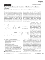 Regioselecitive Huisgen Cycloaddition within Porous Coordination Networks.