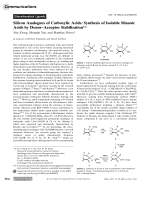 Silicon Analogues of Carboxylic Acids  Synthesis of Isolable Silanoic Acids by DonorЦAcceptor Stabilization.