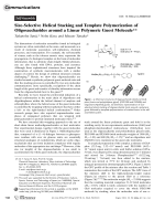 Size-Selective Helical Stacking and Template Polymerization of Oligosaccharides around a Linear Polymeric Guest Molecule.
