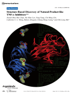 Structure-Based Discovery of Natural-Product-like TNF- Inhibitors.