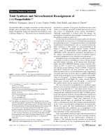 Total Synthesis and Stereochemical Reassignment of (+)-Neopeltolide.