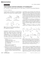 Total Synthesis and Stereochemistry of Uncialamycin.