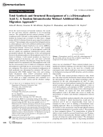 Total Synthesis and Structural Reassignment of (+)-Dictyosphaeric AcidA  A Tandem Intramolecular Michael AdditionAlkene Migration Approach.