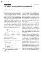 Total Synthesis and Structural Revision of CallipeltosideC.