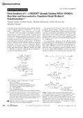 Total Synthesis of ()-FR182877 through Tandem IMDAЦIMHDA Reactions and Stereoselective Transition-Metal-Mediated Transformations.