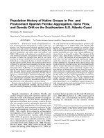 Population history of native groups in pre- and postcontact Spanish Florida  Aggregation  gene flow  and genetic drift on the Southeastern U.S