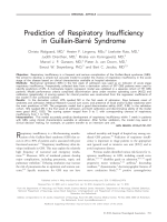 Prediction of respiratory insufficiency in Guillain-Barr syndrome.