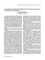 Proceedings of the Sixtieth Meeting of the American Association of Physical Anthropologists.
